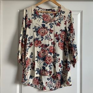 Staccato Floral Blouse Tunic